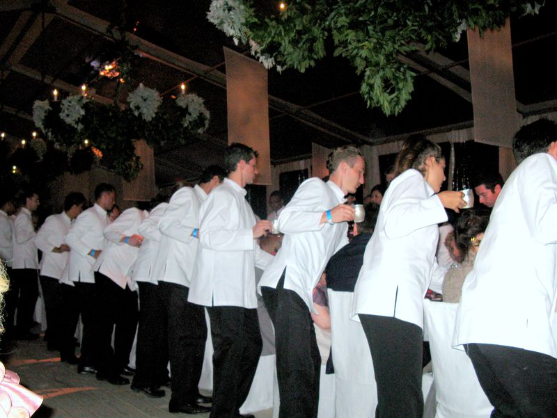 Line of waiters at george's birthday_0701-1