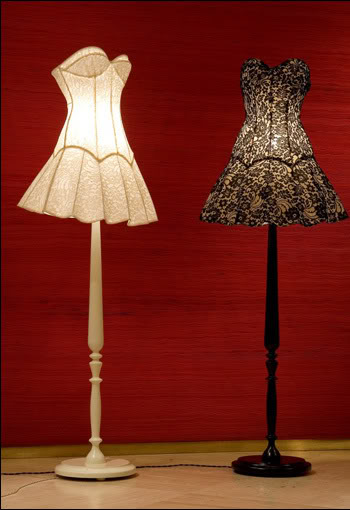 Moschino dress lamps